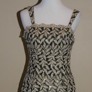 Aspeed USA Cockail Dress Size M 6-8 Gold Black